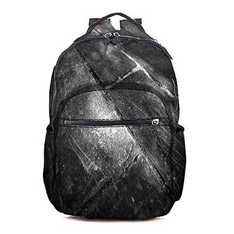 Snoogg Black Floor Printed Vintage Durable Poly Cotton Canvas Satchel Backpack Tablet Rucksack Shoulder School Gym Book Bag Travel Hiking Bag Gift for Teenage Girls/Boys (Blue)