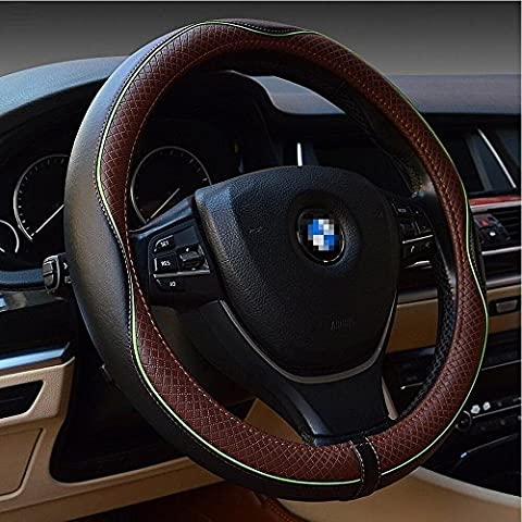 Sclmotor Housse de volant volant Accessoires universel 38,1cm automobile Intérieur Accessoires Housse de volant prise en main