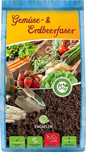 ENGAFLOR Gemüse- & Erdbeerfaser, Mulch, Abdeckfaser, Gartenfaser, Sack a' 50 Liter -