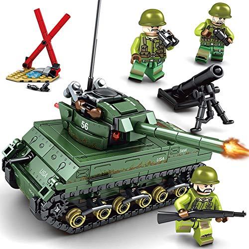Yyz Military Series Kinder Assembled Military Sherman M4 Panzer Kleine Partikel Assembled Building Blocks Lernspielzeug Geburtstagsgeschenke -
