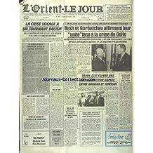 ORIENT LE JOUR [No 6955] du 10/09/1990 - LA CRISE LOCALE A UN TOURNANT DECISIF - LE ROLE DES NATIONS UNIES CONSACRE AU SOMMET D'HELSINKI - BUSH ET GORBATCHEV - TAREK AZIZ ESPERE UNE NORMALISATION RAPIDE ENTRE BAGDAD ET TEHERAN - LIBERIA - SAMUEL DOE BLESSE ET CAPTURE PAR LES REBELLES DE PRINCE JOHNSON - LES KOWEITIENS SOMBRENT DE PLUS EN PLUS DANS L'APATHIE