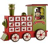 WeRChristmas Weihnachtsdekoration Adventskalender-Zug aus Holz, Mehrfarbig, 30cm