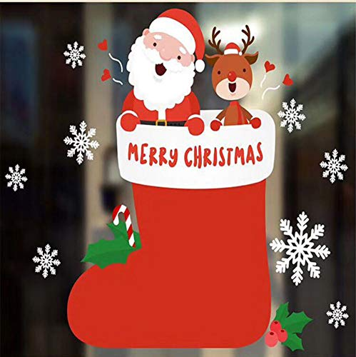 Cczxfcc 2 Stücke Weihnachten Neujahr Pvc Wandaufkleber Fensterglas Weihnachten Diy Schnee Stadt Wandaufkleber Dekoration Weihnachten Home Aufkleber