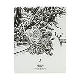 Super Dicke Skizzenbuch Sketchbuch Skizzenblock Zeichenblock Notizbuch 128 Blätter Blanko mit 120 g/m² zum Zeichnen, Aquarell oder Acryl