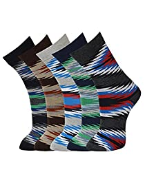 Vinenzia desiger mens Cotton Crew/Calf length Socks pack of 5