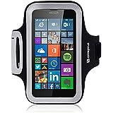 Coque Microsoft Lumia 640, Shocksock Brassard Armband Sport pour Microsoft Lumia 640 Accessoires - Noir