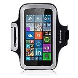 Shocksock Slim Fit Neopren Sport Armband Armtasche für Microsoft Lumia 640 Hülle Schwarz
