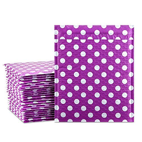 ucgou # 221,6x 30,5cm Purple Dot Gepolsterte Briefumschläge Wasser Proof Poly Bubble Versandtaschen selbst Seal Versandtaschen 25Stück - Seal Selbst Poly Versandtaschen