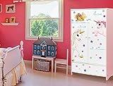 I-love-Wandtattoo ILWS-19-010 Kinderzimmer Möbelsticker Set Feen und Einhörner zum Kleben Möbeltattoo Möbelaufkleber Möbeldeko Sticker Märchen Fabel