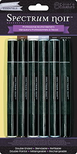 Spectrum Noir - Mischbare Alkohol-Marker Stifte-Set, Essentielle, 6 Stück (Alkohol-system)
