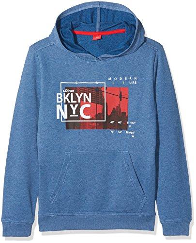 s.Oliver Junior Jungen Sweatshirt 75.899.41.0613, Blau (Blue Melange 53D2), 152 (Herstellergröße: M)