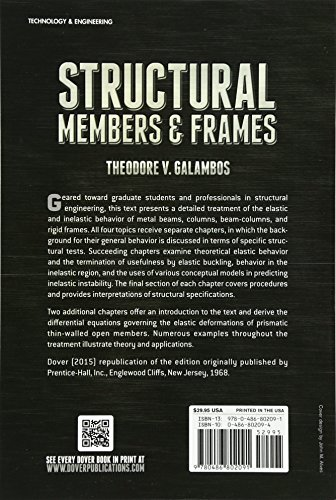 Structural Members and Frames (Dover Books on Engineering)