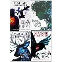 The Raven Cycle Series Maggie Stiefvater Collection 4 Books Set (Book 1-4) (The Raven Boys, The Dream Thieves, Blue Lily Lily Blue, The Raven King)