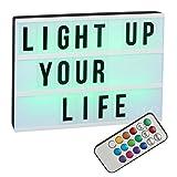 LED ''Lightbox'' A4 - mit Farbwechsel | Lightbox | Farbwechsel Lichtkasten | Wohnaccessoires & Deko | Deko Licht | Cinema Lightbox | LED Lampe | Wohnzimmer Dekoration modern | Leuchtdeko | Preis am Stiel