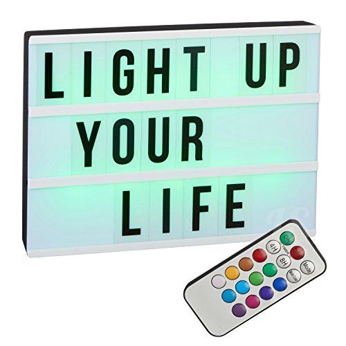 LED \'\'Lightbox\'\' A4 - mit Farbwechsel | Lightbox | Farbwechsel Lichtkasten | Wohnaccessoires & Deko | Deko Licht | Cinema Lightbox | LED Lampe | Wohnzimmer Dekoration modern | Leuchtdeko | Preis am Stiel