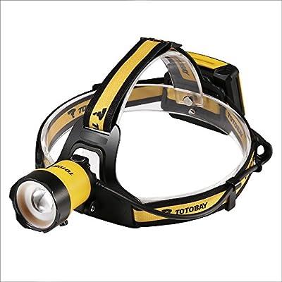 Stirnlampe Kopflampe LED-Stirnlampe, Einstellbar leicht und ultrahell mit 3/4Modi Zoom-Technologie, Perfekt fürs Angeln, Jagen, Lesen, Wandern, Radfahren