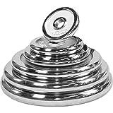GORILLA SPORTS® Hantelscheiben-Set/Einzeln Chrom - 1,25-30 kg Gewichte mit 30/31 mm Bohrung