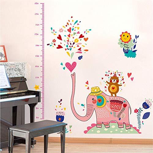 Lbonb 2018 New Pink Big Elephant Spielen Wasser Tiere Zoo Wandaufkleber Höhe Herrscher Messen Kinderzimmer Kindergarten Dekoration