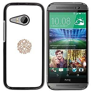 Be Good Phone Accessory // Hartschalen Handyhülle Schutzhülle Schutz Etui Hülle für HTC ONE MINI 2 / M8 MINI // a family