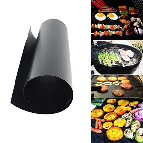2 M en téflon anti-adhésif réutilisable 100 fois de 40 x 33 cm ou grilles pour barbecues poulet, hamburguestas, brochettes, légumes, sardine....