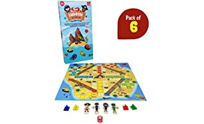 Toiing Ludotoi Return Gift Combo - Pack of 6, Pirate Themed Ludo Board Game, Great Gift for Kids (Ages 4 Years and Above)