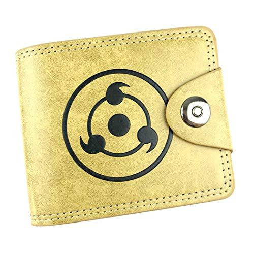 Cosstars Naruto Anime Cartera de Cuero Artificial Monedero Tríptico Billetera Clásico Portatarjetas para Hombre /1