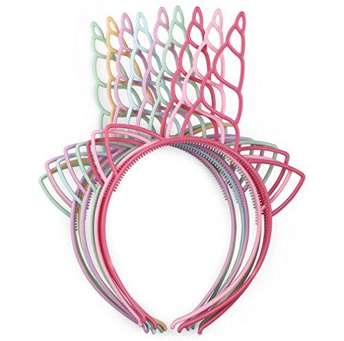 Samidy - 12 diademas unicornio plástico niñas, adolescentes