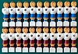 22 joueurs baby-foot en PVC, rouge et bleu, 16mm.