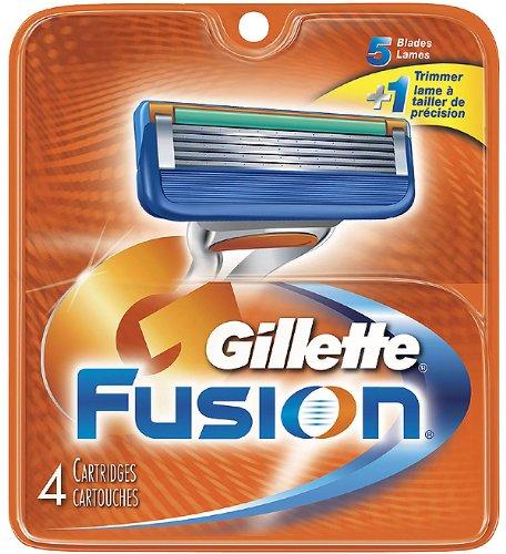 Gillette Fusion Rasierklingen, 4 Stück (Herren Gillette Aftershave)