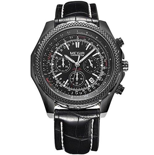 Luxury Brand Relogio cronografo 6 mani 24 Ore wathces Mens quarzo-cronometro Orologio , 1