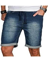 Herren Jogg Jeans Shorts kurze Hose Bermuda Sommer Short Sweathose Slim