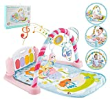 ALCST&CX Klavier-Spielmatte Gym Spielbogen für Neugeborene mit Spielzentrum, Musik und Sounds, geeignet ab Geburt