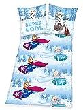 Disneys Frozen- Die Eiskönigin Bettwäsche 80x80 135x200cm 100% Baumwolle
