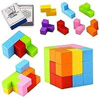 TOPsic Magnetische Bausteine Spielwaren, 7pcs magnetischer Magischer Würfel/magnetische Ziegelspielwaren für Kinder und Erwachsene, groß für Druckentlastung pädagogische Aufbau-IQ-Test