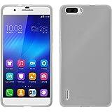 Coque en Silicone pour Huawei Honor 6 Plus - transparent blanc - Cover PhoneNatic + films de protection transparents