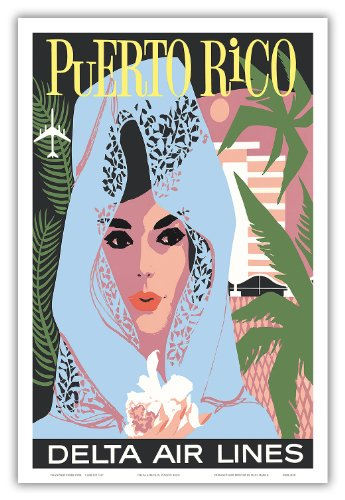 puerto-rico-delta-air-lines-mujer-en-blue-lace-mantilla-vintage-airline-travel-poster-c1960s-master-