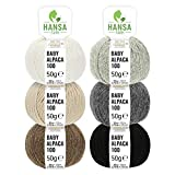 100% Alpaka Wolle im schönen Mix