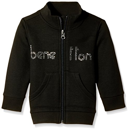 United Colors of Benetton Baby Girls' Sweater (15A3JD7C5097G100_Black_2Y)