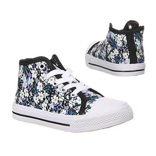 Calçados Preto Tênis Rosa Sapatos 19 Impressão 22 De Lazer Vermelho Infantis 20 21 Floral De 23 Azul 18 8nrwX48qS