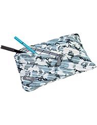 Wedo 2426165903Jumbo Trousse Scolaire Camouflage en polyester, fermeture éclair, 23x 2x 15cm, bleu