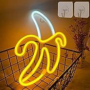 Mazu Homee Banana Neon Signs LED Neon Lights Art Lights Wall Decorative Lights Battery/USB Operated Neon Light