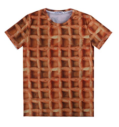 Pretty321 Men Women 3D Brown Chocolate Biscuit Hip Hop Graffiti Unisex T-shirt Amazon