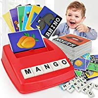 Matching Letter Game Letter Spelling and Reading Game English Alphabet Letters Card Match Game Children Educational Toys