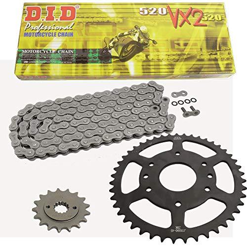 Kettensatz geeignet für KTM Duke 125 14-18 Kette DID 520 VX2 112 offen 14/45 -
