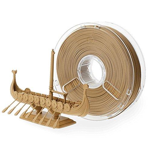 Bobina de filamento de Polymaker Polywood BuildTak PM70020 de 2,85 mm de diámetro, 300 g, imitación de madera, color marrón