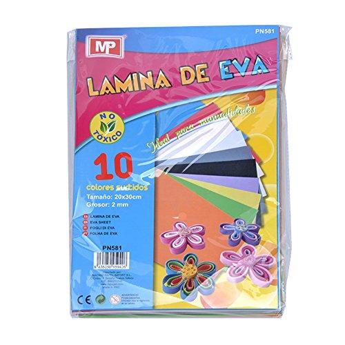 materiales de goma eva - Pack de 10 gomas