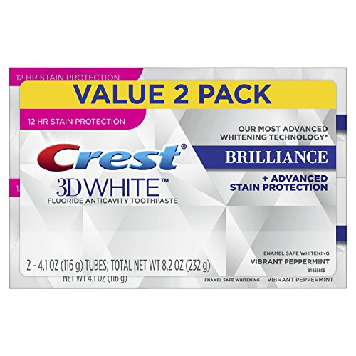 Crest 3D Brilliance Whitening, 8.2 oz (2 Pack - 4.2 oz each) by crest - Saubere Zähne Mit Pfefferminz-zahnpasta