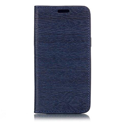 TOTOOSE Meizu 15 Hülle, [Ständer Funktion] Meizu 15 Schutzhülle, Premium PU Leder Flip Tasche Case mit Integrierten Kartensteckplätzen und Ständer - Blau