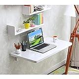 Lw wall table Wand-Klapptisch Wand-Klapptisch mit Halterungen Drop-Leaf Kitchen Esstisch Faltbarer Wandtisch Computertisch (Farbe : B, größe : 50 * 40cm)