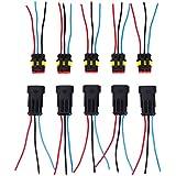 10 Pcs connecteur etanche 3 broches Super Seal plug avec fil 10 CM voiture moto